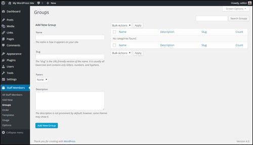 Simple Staff List Template Archives - Free WordPress Tutorials For ...