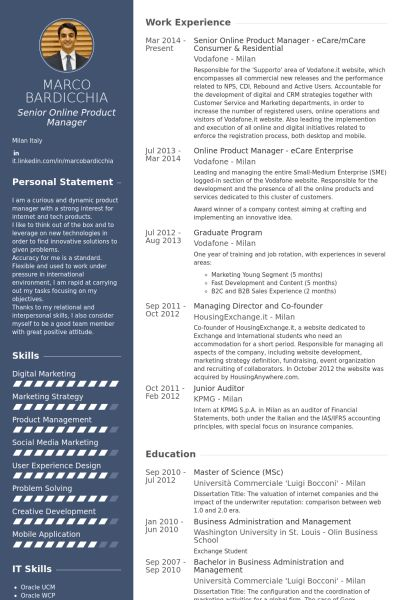 Online Resume samples - VisualCV resume samples database