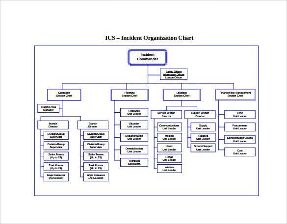 Sample ICS Organizational Chart - 8+ Documents in PDF