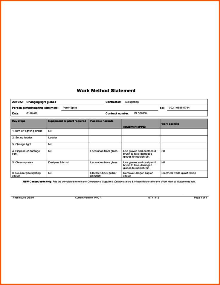 12+ example statement of work   Survey Template Words