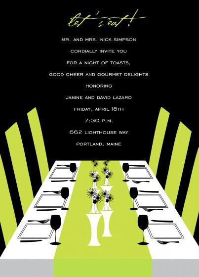 Birthday Dinner Invitation | christmanista.com