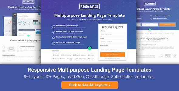 Unbounce Landing Page Template - Readymade by surjithctly ...