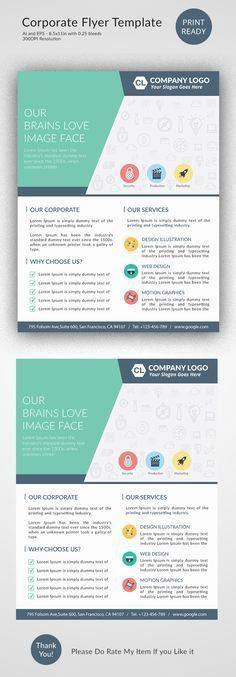 Creative and Minimalist Multipurpose Business Flyer Template PSD ...