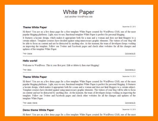 7+ whitepaper template word   biology resume