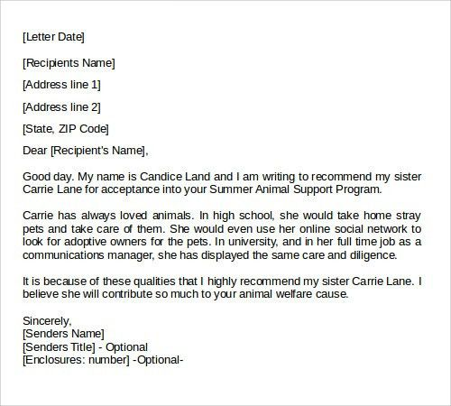 Sample Letter of Recommendation - 23+ Free Documents in Doc