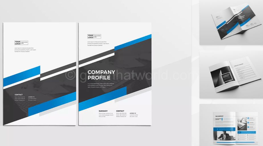 Download New Company Profile Print Template Free