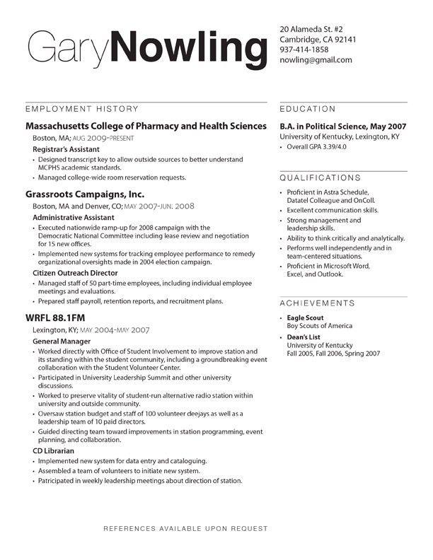 Resume Layout Samples - CV Resume Ideas
