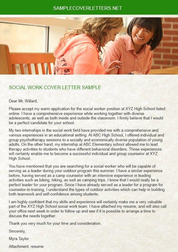Social Work Cover Letter Sample | Sample Cover Letters