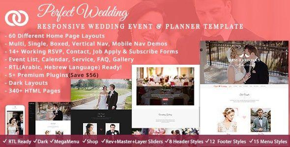 Perfect Wedding - Wedding & Wedding Planner by ThemeMascot ...