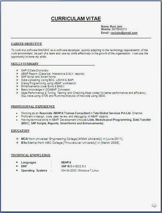 Download Resume Formats | haadyaooverbayresort.com
