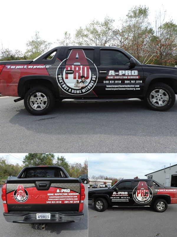 Vehicle Wrap | A-Pro Home Inpsection | Signet