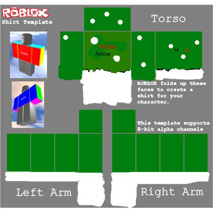 Hidden Arrow Shirt template - ROBLOX