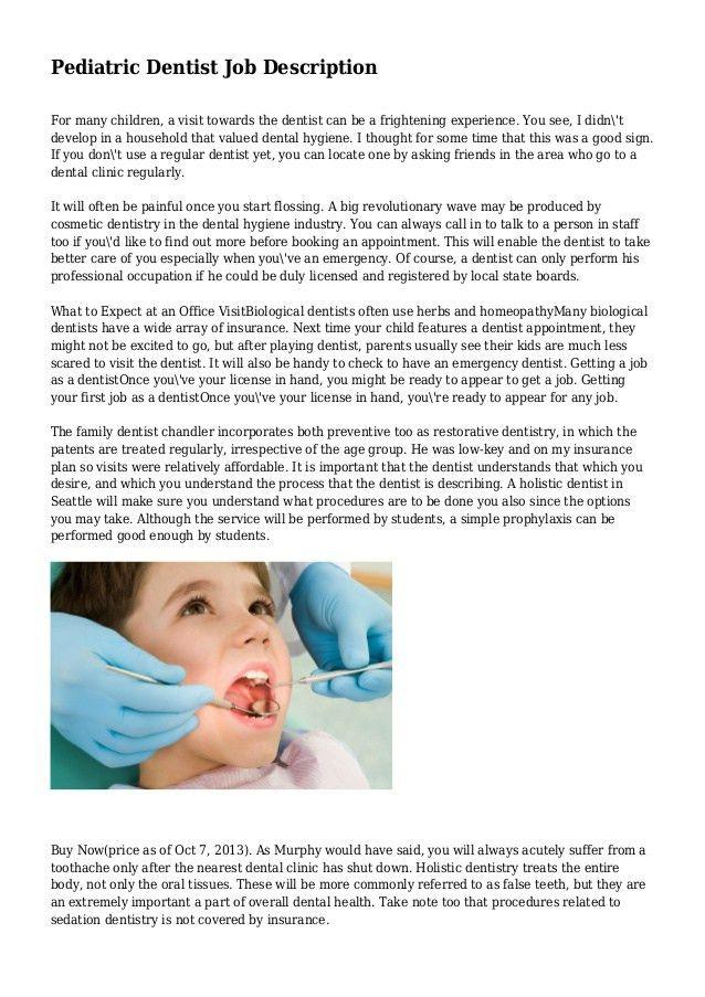 Nice Pediatric Dentist Job Description 1 638?cbu003d
