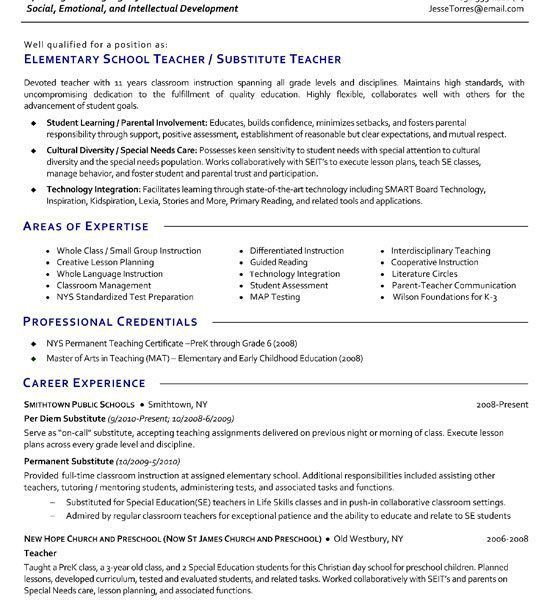Special Education Resume Skills. writing a teacher resume ...