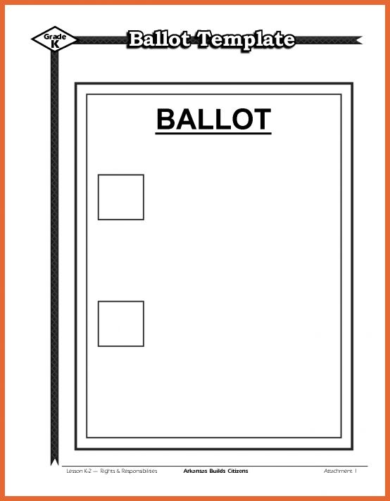 Download a free election ballot template