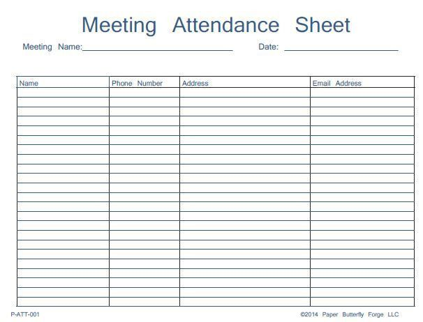 Sample Attendance Sheet Template. 46 Best Attendance Sheet ...