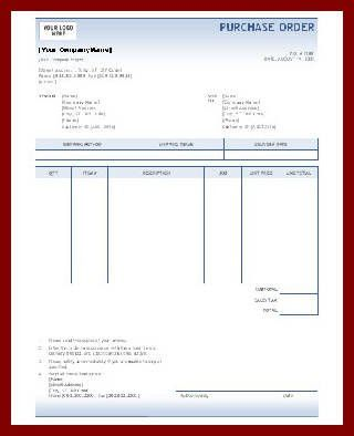 Purchase order - Office Templates