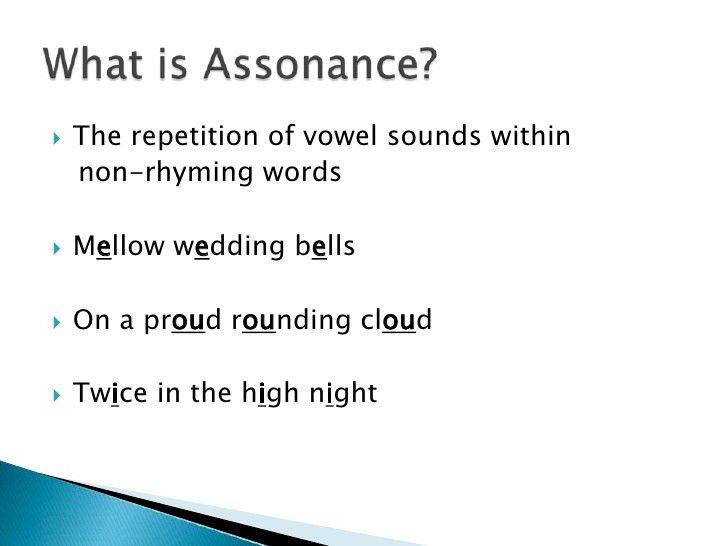 Figurative Language - Alliteration / Consonance / Assonance