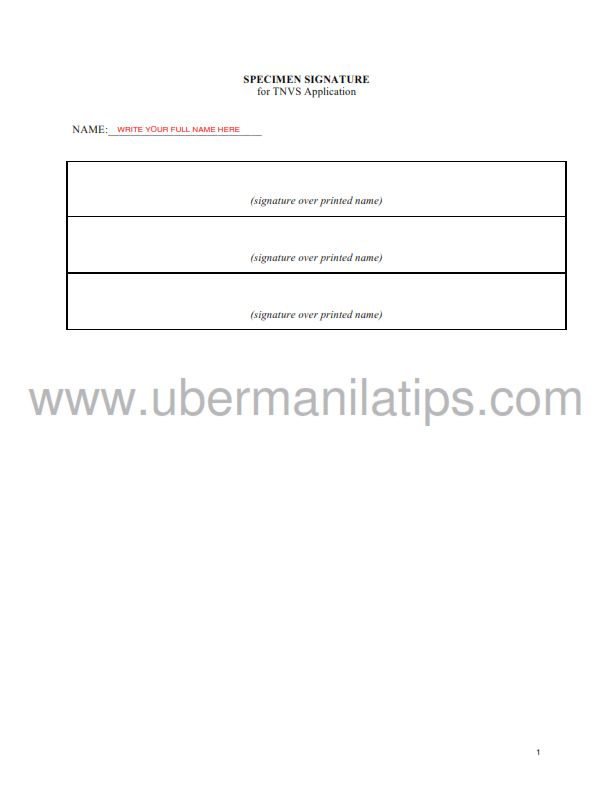 How To Accomplish Forms for TNVS Requirements   Uber MNL Tips