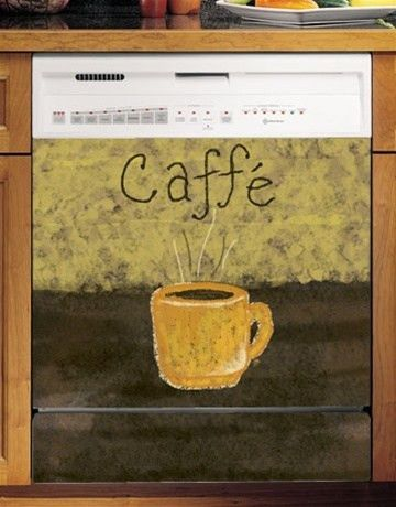 Caffe Coffee Custom Dishwasher Cover. Fun Kitchen Appliances New.