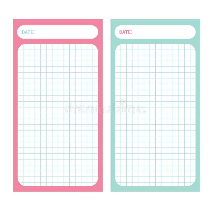 Paper Note List Pad. Planner Set. Cell Texture. To Do List ...