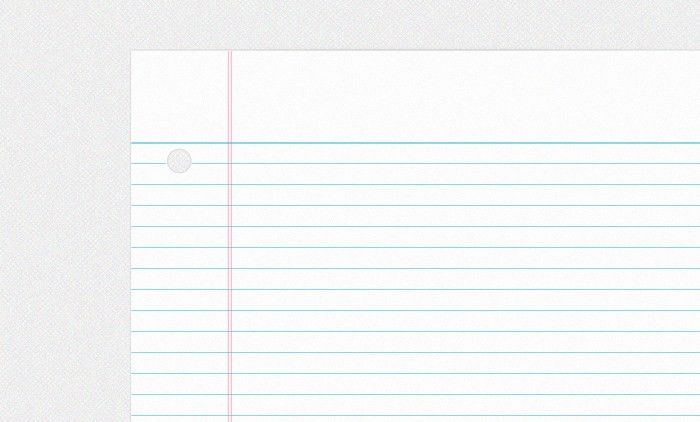 College Ruled Notebook Paper PSD | Allur