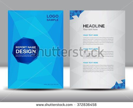 White Annual Report Template Brochure Flyer Stock Vector 372836410 ...