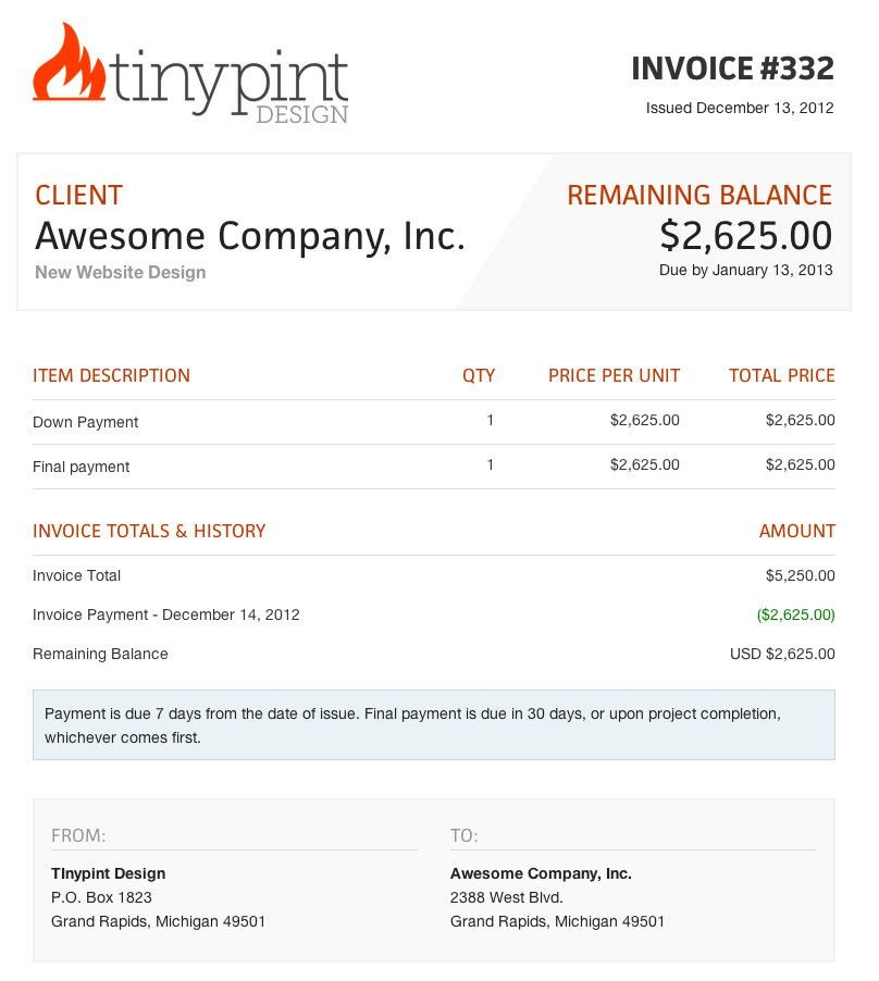 Design Invoice Template Free | Free Business Template