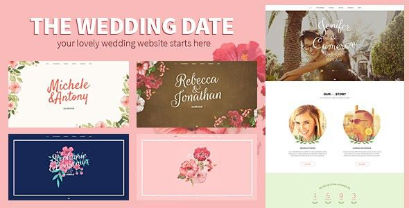 HTML Wedding Website Templates from ThemeForest