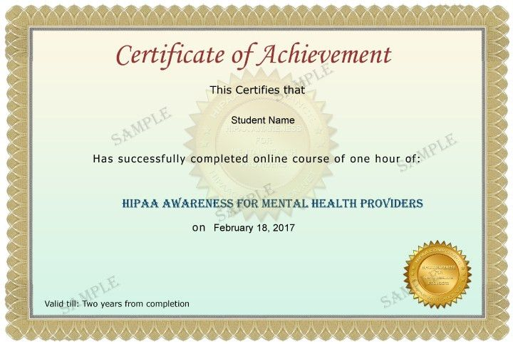 HIPAA Awareness for Mental Health Providers