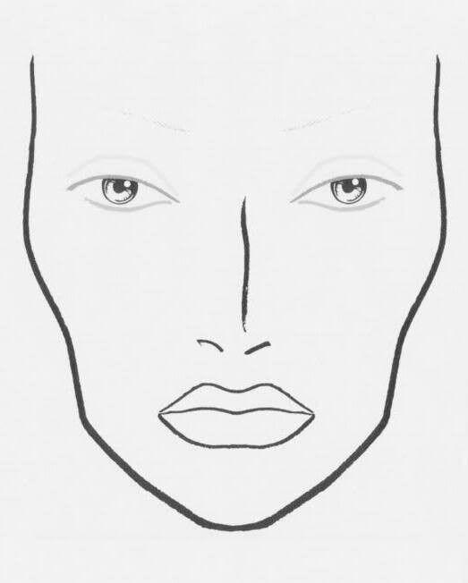 makeup templates face | blank makeup face chart photo macfacechart ...