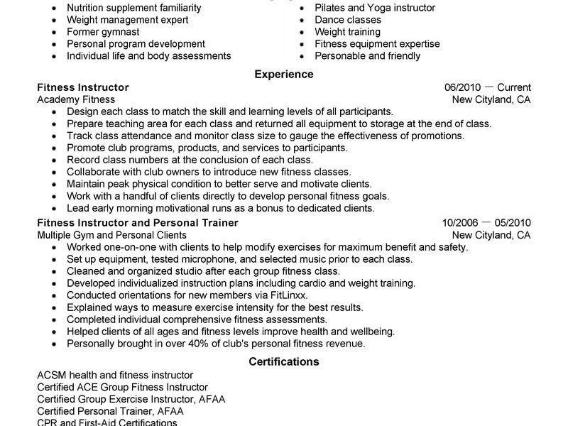Personal Resume - Resume Example