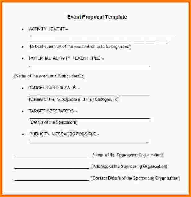 4+ event sponsorship proposal template doc | receipts template