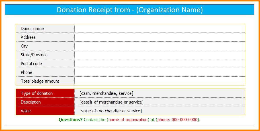 19+ Non Profit Receipt Template | Doc 571366 Donation Slip Sample ...
