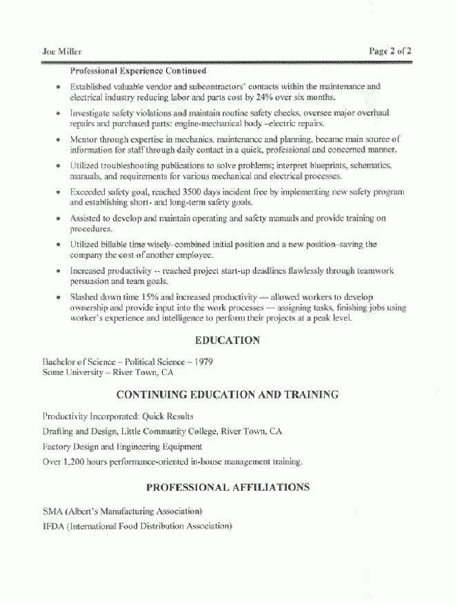 Maintenance Manager Resume Samples | The Best Resume