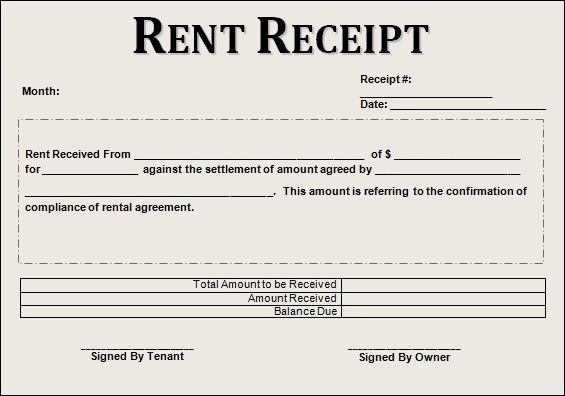 5 Best Images of Printable Rent Receipt - Free Printable Rent ...