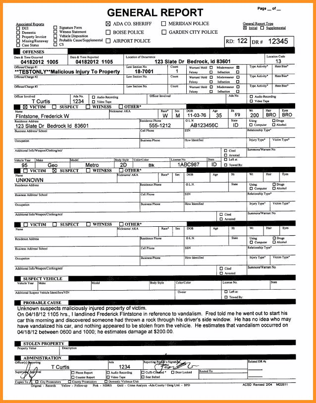 5+ police report format | cook resume