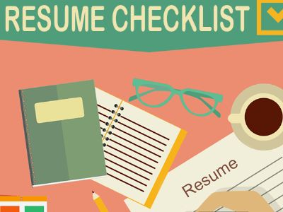 Resume Writing Checklist: INFOGRAPHIC   GalleyCat