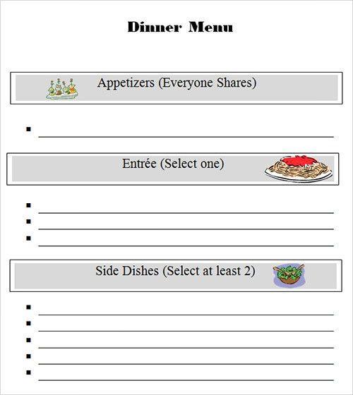 Sample Menu Template - 19+ Download in PDF, PSD, Word