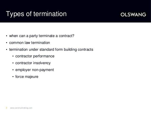 Terminating a Construction Contract: Getting it Right