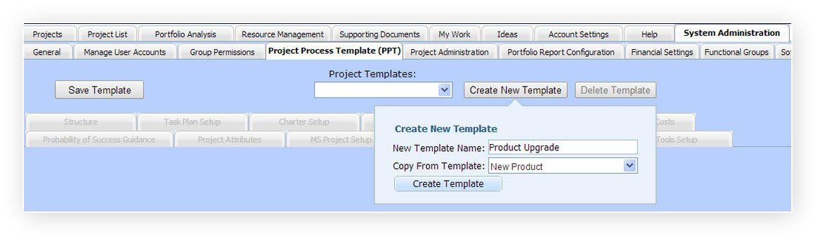 Project Portfolio Management - Process Templates | PD-Trak