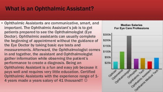 Ophthalmic assistant