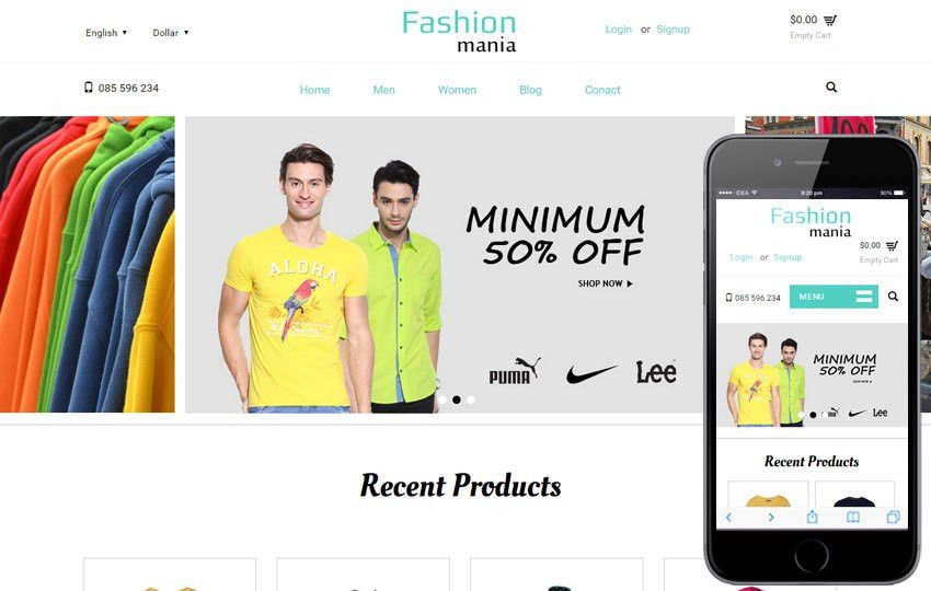 Fashion Mania a Flat Ecommerce Bootstrap Responsive Web Template ...