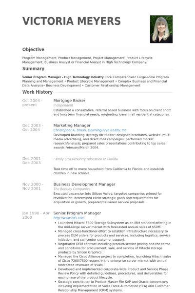 Mortgage Broker Resume samples - VisualCV resume samples database