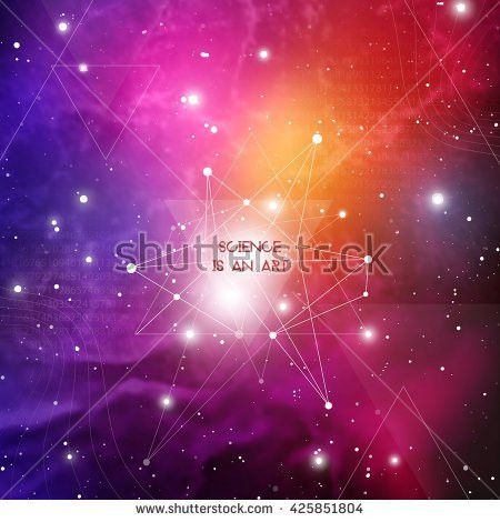 Scientific Design Template Copy Space Hipster Stock Vector ...