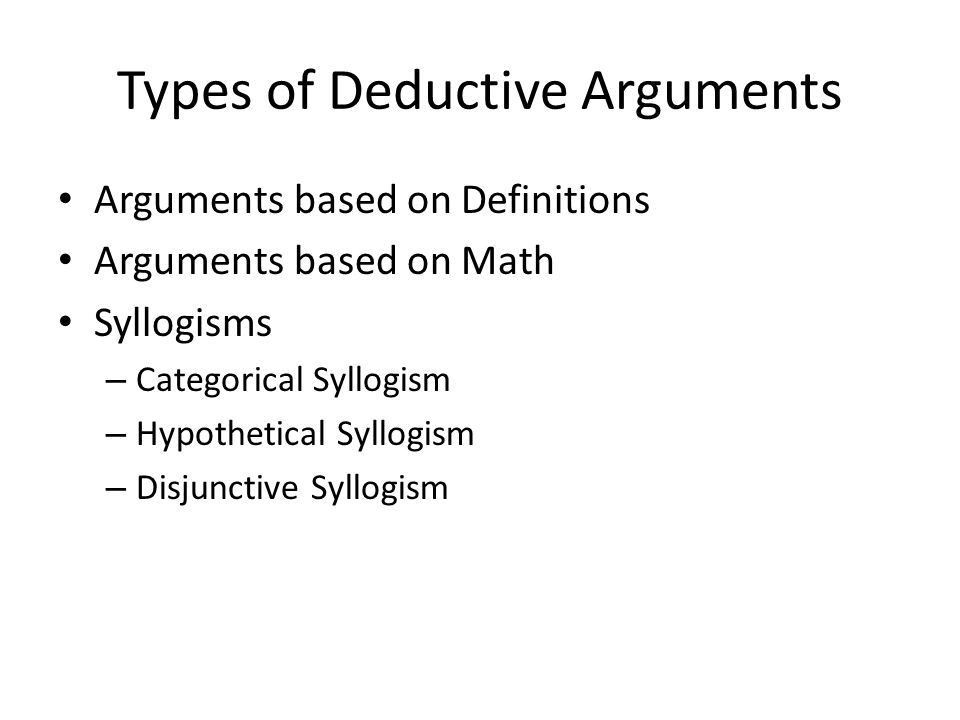 Types of Deductions and Inductions with Examples. - ppt download