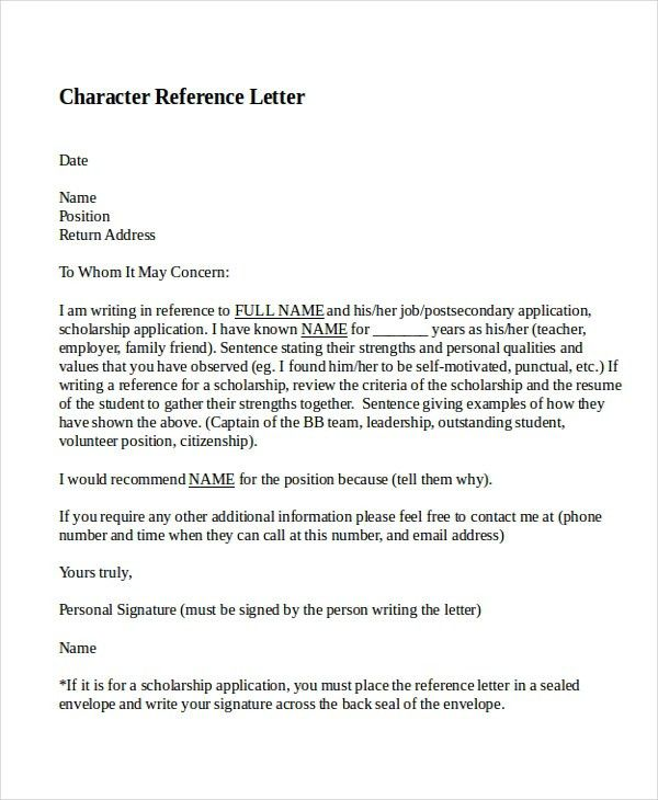 Stunning Character Reference For Employee Gallery   Best Resume .  Character Reference Template Uk