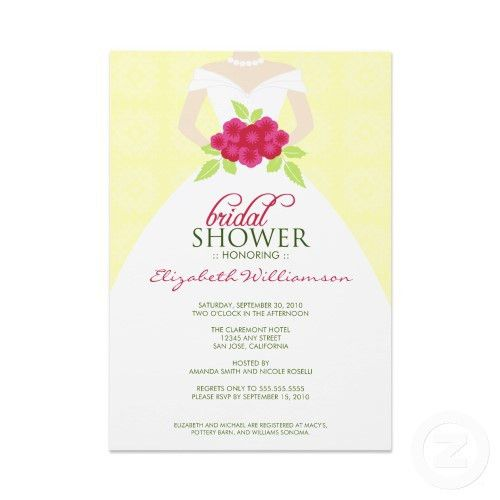 Sample Bridal Shower Invitations Wording – Elegantweddinginvites ...
