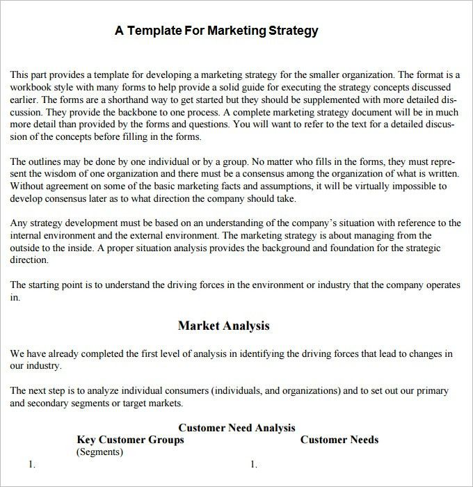 Strategic Marketing Plan Template -3+ Free Word, PDF Documents ...