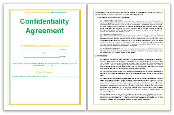 http://www.mstemplate.com/confidentiality-agreement-template.html ...